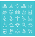 Ottawa Line Icons 6 2 vector image vector image