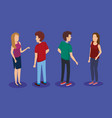 persons group isometric avatars vector image