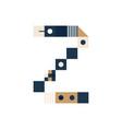 pixel art letter z colorful letter consist of vector image vector image