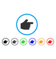 pointer finger rounded icon vector image vector image