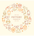 pottery wheel potter clay horse and other vector image vector image
