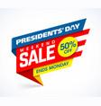 presidents day sale banner design template big vector image
