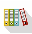Red green blue and yellow office folders icon vector image vector image