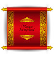 scroll banner in royal luxury moroccan arabic styl vector image vector image