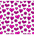 seamless hearts pattern-12 vector image vector image