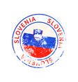 slovenia sign vintage grunge imprint with flag on vector image vector image