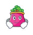 smirking purse character cartoon style vector image vector image