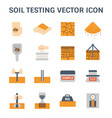 soil testing icon vector image vector image