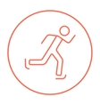 Speed skating line icon vector image