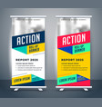 stylish display standee roll up banner template vector image vector image