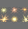sun ray effect starburst yellow shine sunlight vector image vector image