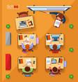 top view school concept in vector image vector image