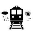travel on train isolated symbol vector image vector image