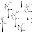trees on white background seamless pattern plant vector image vector image
