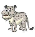 white cheetah on white background vector image