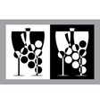 wine glasses and bottle sign vector image