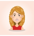 young woman avatar isolated icon vector image vector image
