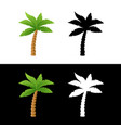 icons of palm tree vector image