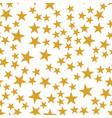 golden stars seamless pattern vector image