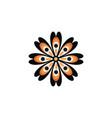aboriginal art dots painting icon logo design vector image vector image