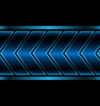 abstract blue metallic arrow pattern on black vector image vector image