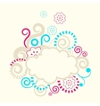 Abstract swirls frame vector image vector image