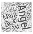 angel guide healing meditation Word Cloud Concept vector image vector image