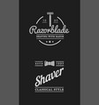 barbershop set of labels or emblems vector image