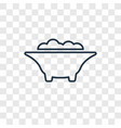 bathtub concept linear icon isolated on vector image vector image