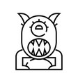 beast line icon concept sign outline vector image