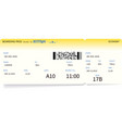 boarding pass ticket travel or journey concept vector image vector image