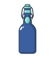 bottle with bung icon cartoon style vector image vector image