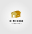 bread house logo bakery home design vector image vector image