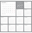 Calendar Planner Design Week starts from Monday vector image