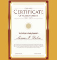 certificate template 3 vector image vector image