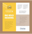 cheese business company poster template with vector image