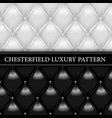 chesterfield luxury shiny leather pattern vector image