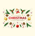 christmas background holly spruce jingle a vector image