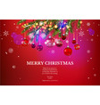 christmas beautuful background vector image vector image