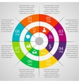 Circle infographic template vector image vector image