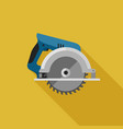 circular saw flat icon vector image vector image