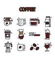 coffee cartoon concept icons vector image