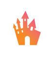 colorful gradient halloween design element castle vector image vector image