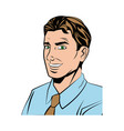 comic man business wear shirt and tie design vector image