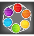 Concept of colorful circular banners for different vector image