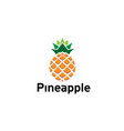 creative geometric pineapple fruit logo vector image vector image