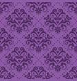 damask tiled purple textile seamless pattern vector image vector image