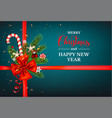 dark blue holiday card vector image