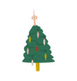 decorated christmas tree happy new year symbol vector image vector image