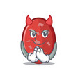 devil salami mascot cartoon style vector image vector image